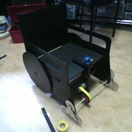 Front view of stepping wheels