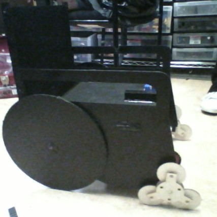 Side view of stepping wheels