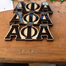 Fraternity Alpha Phi Alpha pins