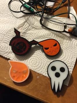 Ouroboros symbol (FMA), Soul symbol (Soul Eater), Death Shingami symbol (Soul eater)