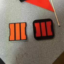 Black Ops 3 Logo: mine on left, a friend on right.