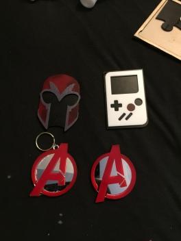Magneto Helmet magnet, GB Color magnet, Advenger logo Keychain and magnet