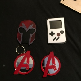 Magneto Helmet magnet, GB Color magnet, Advenger logo Keychain and magnet