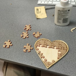 Heart puzzle (being assembled) Not a pin, but It could be...