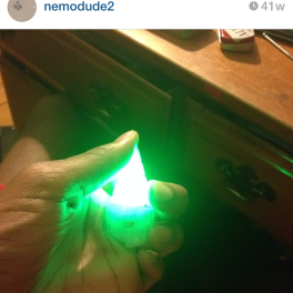 Giga Drill with led. (Tengan Toppa, Gurren Lagann). Also my instagram... treat with care